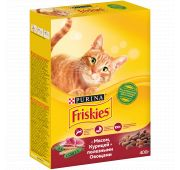 FRISKIES ADULT Кош МясоПеченьОвощ 10х400г